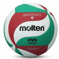 Molten V5M5000 Volleyball Ball Size5 PU Leather Soft Touch Indoor Outdoor Game Q