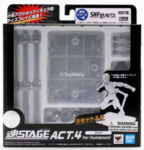 Tamashii Stage Act 4 for Humanoid Clear Stand Set of 3 AUTHENTIC BANDAI USA