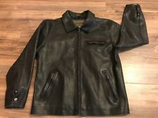 Machine Type Field Apparel Black Faux Leather Motorcycle-Style Jacket Large Nice