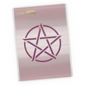 Pentacle Stencil - Pentagram Art Craft /Airbrush Template by CraftStar