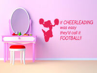 Children's 'If I Where A Cheerleader...' Wall Art Quote, Decal, Modern Transfer