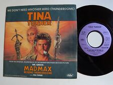 """TINA TURNER: We don't need another hero - MAD MAX 7"""" 45T French CAPITOL 2007137"""