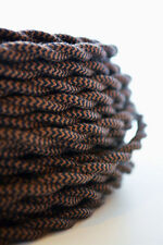 COFFEE - Cloth Covered Electrical Wire 25 ft - Braided wire - Fabric wire