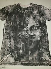 Affliction Bamboo t-shirt, sleeping, cross, Angel, Wings,