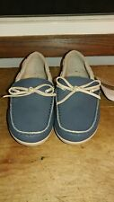 NWTS LADIES CROCS. NAVY/ TUMBLEWEED LOAFER  SIZE W6