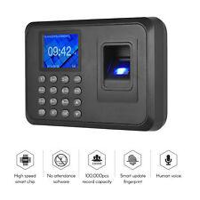 Biometric Fingerprint Checking In Attendance Machine Employee Time Clock Lcd
