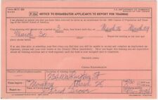1960 U.S. Census Enumerator Applicants Training Sessions Appointment Card