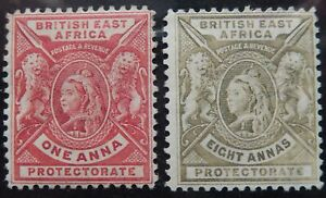 Br. East Africa Scott # 74, 82, Mint Original Gum (HR)