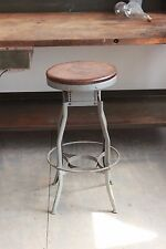 Vintage Industrial Toledo UHL Draftsman Stool Machine Age Chair Factory 1940s