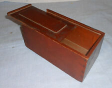 New listing Antique 1800's Mahogany Candle Box Dovetailed