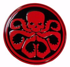 Marvel's Captain America Hydra Red/Black Metal Enamel Belt Buckle