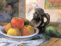 PAUL GAUGUIN STILL LIFE WITH APPLES PEARS JUG OLD ART PAINTING PRINT 2222OMA