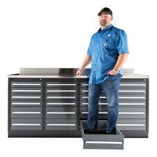 7ft Workbench Tool Box Tool Cabinet With 24 Drawers Amp Stainless Steel Top