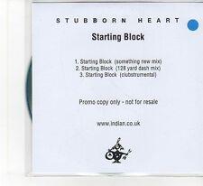 (FB399) Stubborn Heart, Starting Block - DJ CD