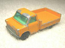 "1977 MATCHBOX LESNEY #66 FORD TRANSIT 1:64 DIECAST 2 3/4"" ORANGE FLATBED TRUCK"