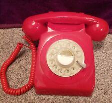 GPO 746 Corded Retro Rotary Telephone - Red