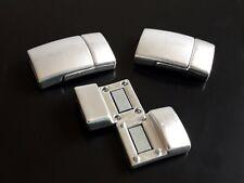 2 Cierres Acero Inoxidable mate (A.11 x 3) pulsera abalorio fornitura (ACE-38)