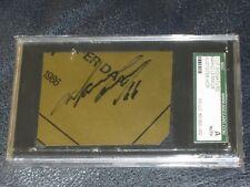 Mario Lemieux Autographed Cut Sgc Certified Encapsulated