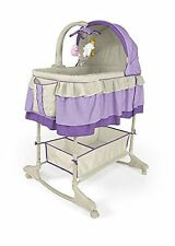 Best for Kids Little Lamb Baby Bed Rocking Bassinet Cradle Crib Purple