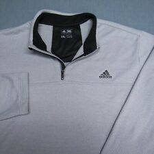 ADIDAS 1/4 SOFT POLY  1/4 ZIP GOLF PULLOVER--2XL--LIGHT GREY--PERFECT SPOTLESS