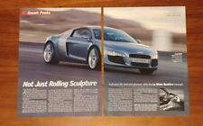 AUDI LE MANS QUATTRO CONCEPT R8 MAGAZINE ARTICLES ADS CLIPPINGS LOT 108