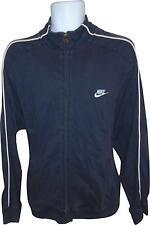 USED Mens Nike Navy Long Sleeve Collared Logo Jacket Size Large (R.M)