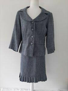 Sweet Suit Two Piece Skirt & Blazer Office Wear Size 16