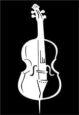 Cello Vinyl Decal music strings instrument case band car window sticker graphic