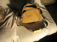 Vintage Retro Brown Zippered Canvas Shoulder Photography Camera Bag! Real Nice!