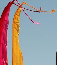 Super Flutter Tail 13 Ft Tall Advertising Banner Swooper Bow Flag - Hot Pink