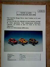 MAJORETTE FICHE SONIC ALARM RANGE ROVER 3401 NEUF!!