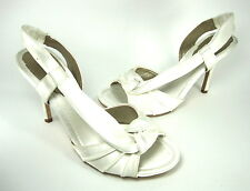 MAXSTUDIO WOMEN'S SCENT 2 SLINGBACK SANDAL WHITE SATIN US SIZE 7.5 MEDIUM (B, M)