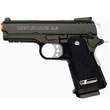 WE Tech GBB-406 3.8 Baby Hi Capa V2 Green Gas Blowback GBB Airsoft Pistol Black