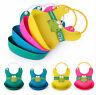Cute Baby Soft Silicone Bib Waterproof Saliva Dripping Kid Infant Lunch Bibs#V