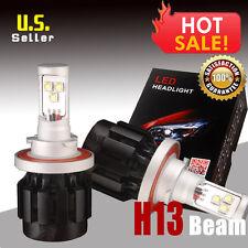 2PCS HID 80w H13/9008 LED Bulbs 6000K Pure White Headlight Conversion Light