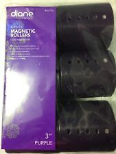 "Diane #2725 Magentic 3"" Rollers (6-PER PACK) PURPLE"
