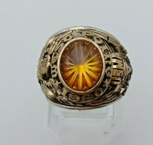US Military Academy West Point Rings 1990 , USMA  , Citrine Stone , Gold 10k
