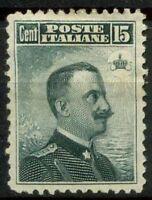 Italia Regno 1906 Sass. 80 Nuovo * 80%