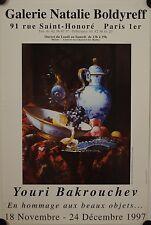 Affiche YOURI BAKROUCHEV 1997 Exposition Galerie Boldyreff