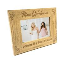 Personalised Maid Of Honour Photo Frame Wedding Gift FW151