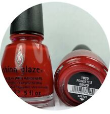 China Glaze Nail Polish Poinsettia 1020 Creamy Shiny Juicy Red Holiday Lacquer