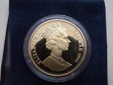 Life Of Queen Elizabeth The Queen's childhood Gibraltar Crown 1999 Gilt Silver