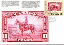 CANADA 1982 - PPC -THE ROYAL CANADIAN MOUNTED POLICE  STAMP ON STAMP