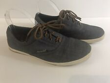 American Eagle Mens 7.5 Blue Denim Canvas Sneakers Shoes