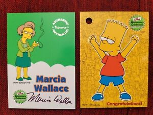 The Simpsons Anniversary Autograph / Auto Marcia Wallace + Redemption