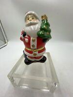 Porcelain Limoge Santa Claus Christmas Trinket Box Hinged