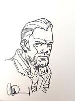 Abraham Ford by Charlie Adlard - TWD Walking Dead - Signed Sketch / Original Art