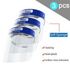 3PCS Full Face Shield Covering Visor Mask Protection Splash Guard Safety Clear Z