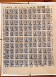 FRANCOBOLLI Colonie Egeo Lipso Lotto 100 pezzi - 25 cent.