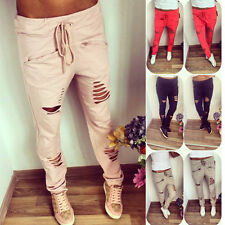Womens Casual Harem Baggy Tomboys Hip Hop Dance Sweat Pants Slacks Trousers UK